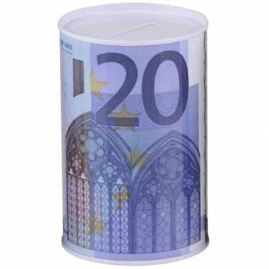 Geld 20 euro biljet spaarpotje 8 x 11 cm prijs
