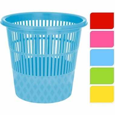 Gele afvalbak/prullenmand 20 liter prijs