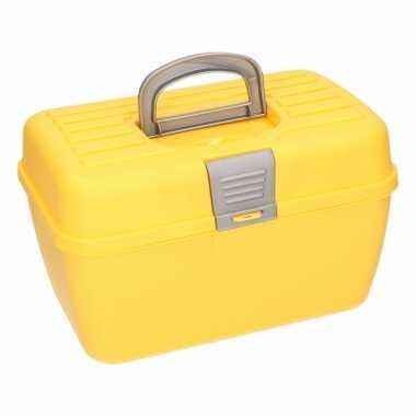 Gele opbergbox 28 cm prijs