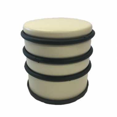 Gele ronde deurstopper met rubberen bescherming 7 x 7.5 cm prijs
