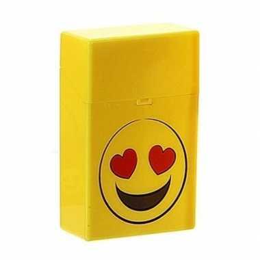 Gele sigarettenbox verliefde smiley prijs