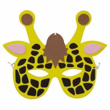 Giraffes foam masker voor kinderen prijs