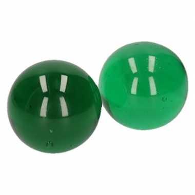 Glazen knikker groen 6 cm 2 stuks prijs