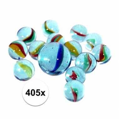 Glazen knikkers 405 stuks prijs