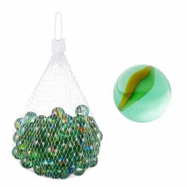 Glazen knikkers speelgoed 202 stuks groen prijs