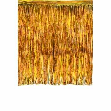 Glinsterend deurgordijn goud prijs