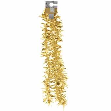 Gouden feest folieslinger grof 180 cm prijs