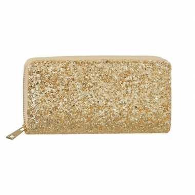 Gouden glitter portemonnee voor dames prijs