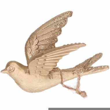 Gouden vogels kerstornamenten kersthangers 11 cm prijs