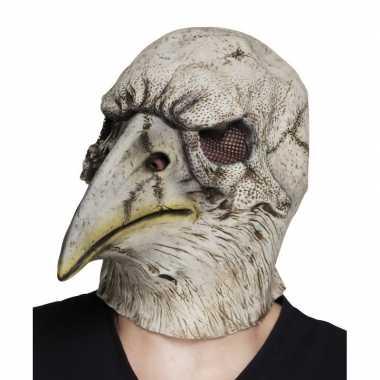 Grijze adelaar horror/halloween masker van latex prijs