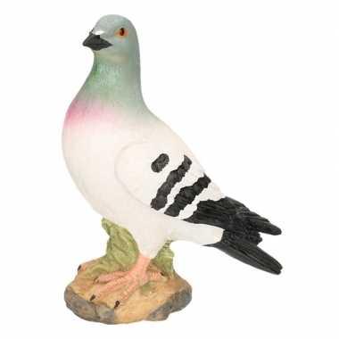 Grijze duif van steen 24 cm prijs