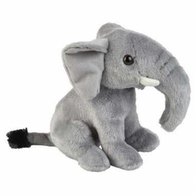 Grijze olifanten knuffels 18 cm knuffeldieren prijs