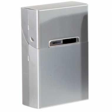 Grijze sigarettenbox aluminium prijs