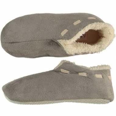Grijze spaanse sloffen/pantoffels stippen voor jongens maat 35-36 pri