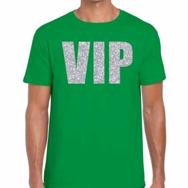 Groen vip zilver fun t-shirt voor heren prijs
