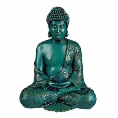 Groene biddende boeddha beeld 30 cm prijs