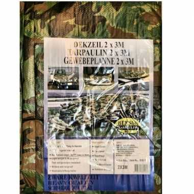 Groene camouflage afdekzeil / dekkleed 2 x 3 m prijs