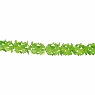 Groene feestslinger in kruisvorm 6 m prijs