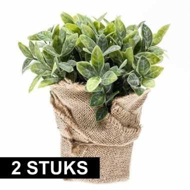 Groene kunstplant munt kruiden plant in pot prijs