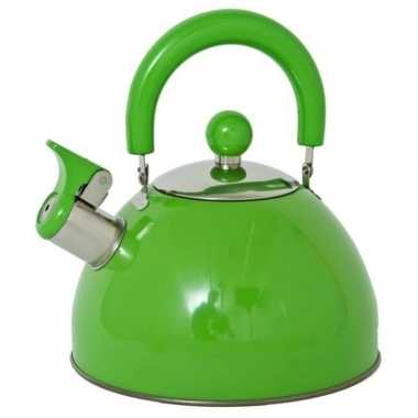 Groene ouderwetse fluitketel 2,5 liter prijs