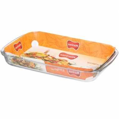 Grote glazen lasagne ovenschaal 24 x 40 cm prijs