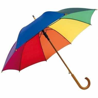Grote paraplu regenboog 103 cm prijs