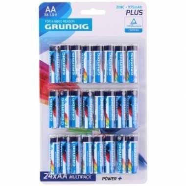 Grundig aa batterijen 24 stuks prijs