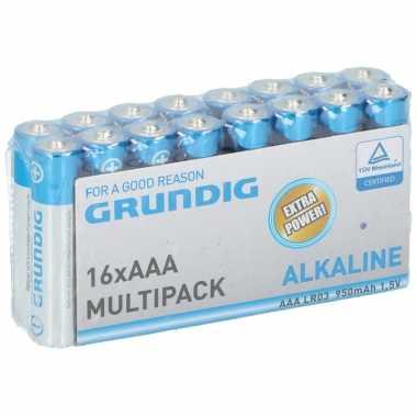 Grundig aaa batterijen 16 stuks prijs