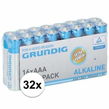 Grundig aaa batterijen 32 stuks prijs