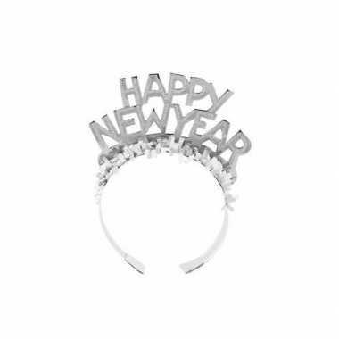 Haarband happy new year zilver voor volwassenen prijs