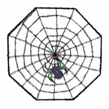 Halloween spinnenweb met spin 38 x 38 cm prijs