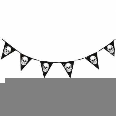 Halloween vlaggenlijn met schedels 360 cm prijs