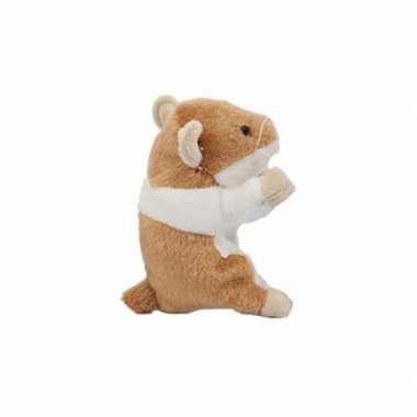 Hamster knuffel van 13 cm beige prijs