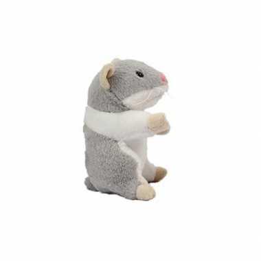 Hamster knuffel van 13 cm grijs prijs