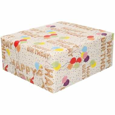 Happy birthday cadeaupapier 70 x 200 cm prijs
