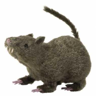 Harige decoratie ratten bruin 21 cm prijs