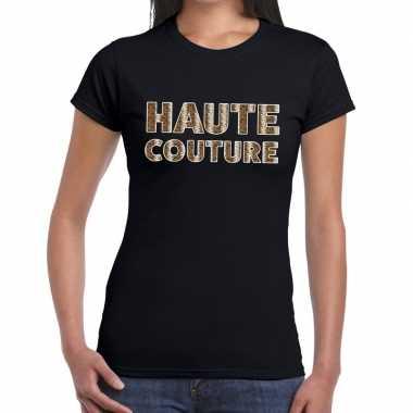 Haute couture slangen print fun t-shirt zwart voor dames prijs
