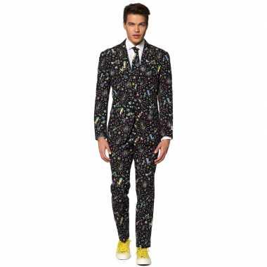 Heren verkleedkostuum disco dude business suit prijs