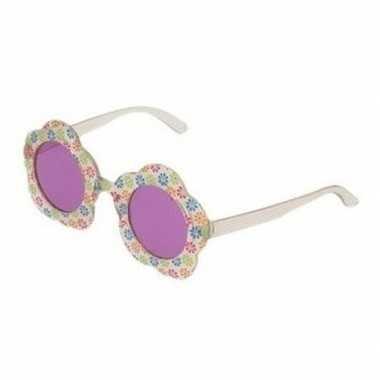 Hippie feestbril met paarse glazen voor volwassenen prijs