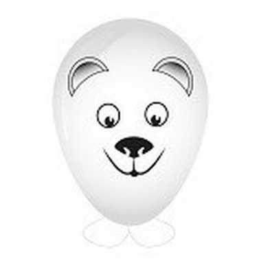 Hobby ballon versieren ijsbeer hoofd 27 cm prijs