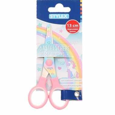 Hobby/speelgoed schaar met regenboog print prijs