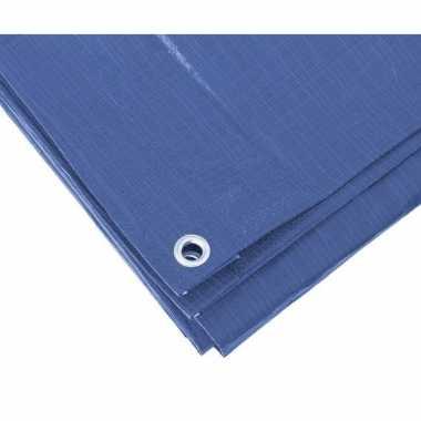 Hoge kwaliteit afdekzeil / dekzeil blauw 5 x 8 meter prijs