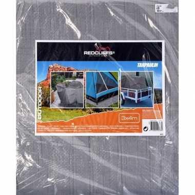 Hoge kwaliteit afdekzeil / dekzeil grijs 2 x 3 meter prijs