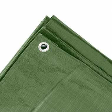 Hoge kwaliteit afdekzeil / dekzeil groen 6 x 8 meter prijs