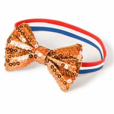 Holland dames armbandje met oranje strik prijs