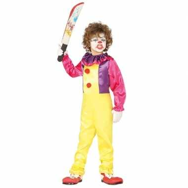 Horror clown verkleed jumpsuit voor kinderen prijs