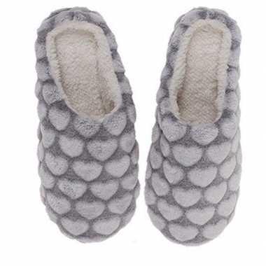 Huis instappers schoenen hartjes grijs voor dames maat 36/37 prijs