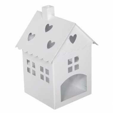 Huisjes lantaarn nieuwe woning cadeau wit 21 cm prijs