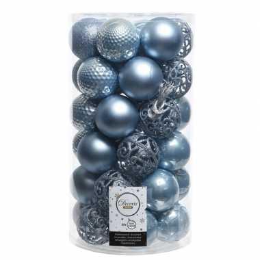 Ijsblauwe kerstballen set 6 cm 36 stuks prijs