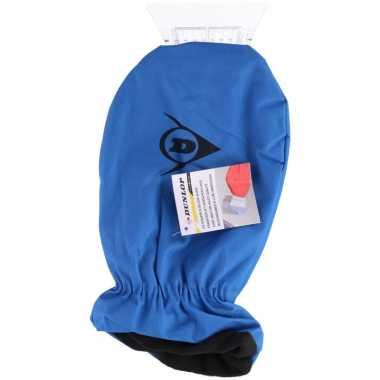 Ijskrabber met want/handschoen blauw prijs